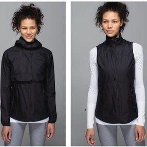 lululemon Black Best Vest Convertible Jacket